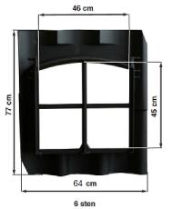 Støpejern vindu
